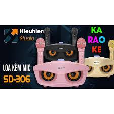 Tặng 2 Mic & quạt cầm tay] Loa karaoke bluetooth hình cú mèo SD-306 cực hay  - BH 6 tháng giảm chỉ còn 965,000 đ