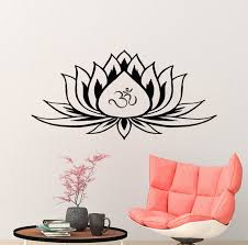Lotus Wall Decals Lotus Flower Wall Decal Yoga Studio Art Etsy