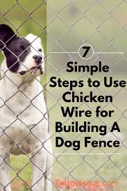 Build A Chicken Wire Dog Fence In 7 Easy Steps Pet Lover Guy