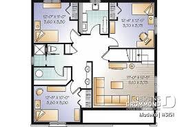 plan maison 5 chambres 2 s bain 3151