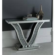 diamond mirrored console table in 2020