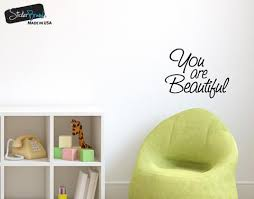You Are Beautiful Vinyl Decal Sticker For Mirrors Or Walls Boost Your Self Esteem With Positive Thinking 6083 Stickerbrand