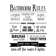 Bathroom Rules Wall Quotes Decal Bathroom Rules Wall Quotes Decals Bathroom Rules Sign