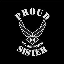 Proud Us Air Force Sister Military Vinyl Decal Sticker Window Wall Car Ebay