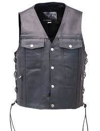 classic leather vest denim style