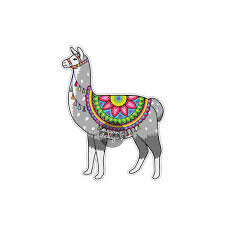 Llama Sticker Colorful Alpaca Bumper Sticker Laptop Decal Car Decal Multicolor Cute Boho Hippie Llama Animal Sticker Art