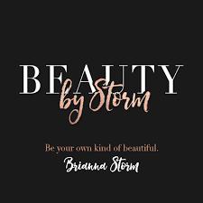 makeup artist logo beauty by storm