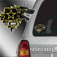 Army House Stark Game Of Throne Inspired Logo Window Car Etsy