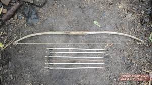 arrows using only primitive stone tools