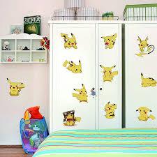 Pokemon Go Pikachu Wall Stickers Nursery Boys Room Wall Decals