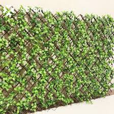 China Artificial Expandable Willow Trellis Hedge Fence Grass China Trellis And Hedge Price
