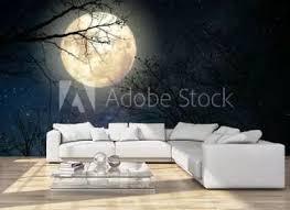 44 855 Moon Tree Light Wall Murals Canvas Prints Stickers Wallsheaven