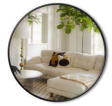 handmade over mantle round wall mirror