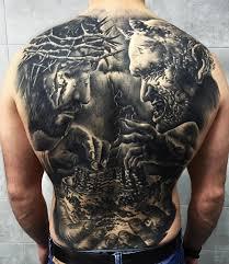 Jezus I Diabel Tatuaze Na Plecach Jesus Tattoo Tatuaze Na