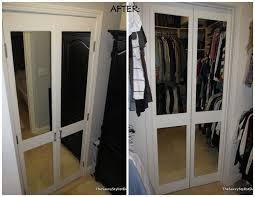 diy mirrored closet door makeover