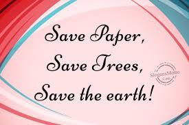save paper slogans