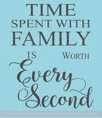 Time Spent With Family Worth Every Second Wall Letters For Clock Arrangement Vinyl Sticker Decals