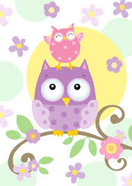 owl friends wallpaper mural by janet