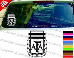 Argentina National Soccer Football Team Logo Messi Cool Decal Car Window Sticker Ebay