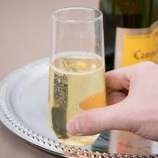 oz clear plastic stemless wine glass