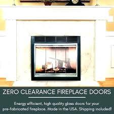 airtight fireplace doors wood