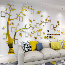 Big Tree Photo Frame Living Room Bedroom 3d Acrylic Wall Stickers For Home Decor Buy Home Decor Acrylic Wall Stickers For Home Decor Photo Frame Living Room Bedroom 3d Acrylic Wall Stickers For