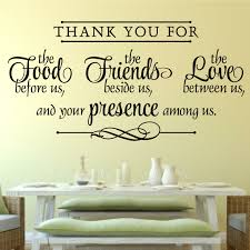 Gracie Oaks Thank You For Food Friends Love Religious Decor Vinyl Wall Decal Reviews Wayfair