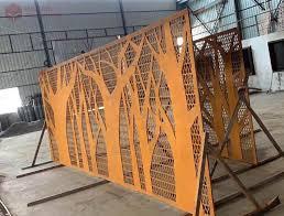 Weathering Steel Fence Screening Cost Weathering Steel Fence Screening For Sale