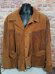 fringe brown leather jacket coat