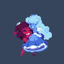 Ruby and Sapphire Pixelated