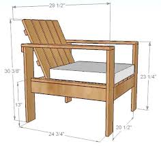simple diy outdoor patio lounge chair