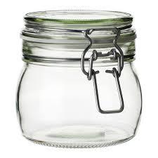 korken jar with lid clear glass 17 oz