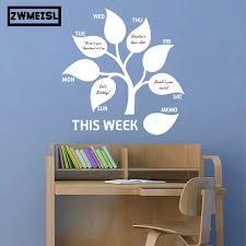 Zwm Free Shipping This Week Tree Leaf Memo Decals Planner Blackboard Stickers Chalkboard Vinyl Wall Decal Sticker Home Decorat Wall Stickers Aliexpress