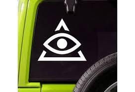 Illuminati Sign Car Decal Illuminati Truck Or Bumper Vinyl Sticker Wish