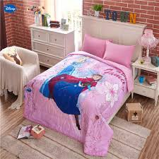 Disney Frozen Elsa And Anna Summer Quilts Comforters Bedding Cotton Covers Girl S Baby Kids Room Decoration 150 200cm 200 230cm Comforters Duvets Aliexpress
