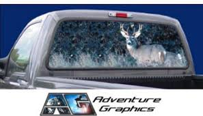 Vehicle Graphics Rear Window Graphics Buck Hunting Rear Window Vehicle Graphic