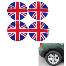4 Pcs Set Car Emblem Badge Sticker Wheel Hub Caps Centre Cover England British The Uk Flag Car Sticker Geek