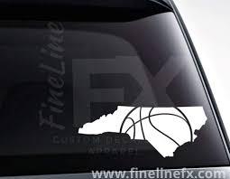 North Carolina Basketball Vinyl Decal Sticker
