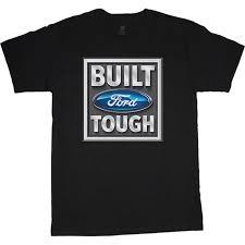 Decked Out Duds Built Ford Tough Decal T Shirt Men S Tee Black Walmart Com Walmart Com