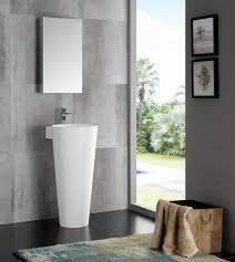 16 inch white pedestal sink