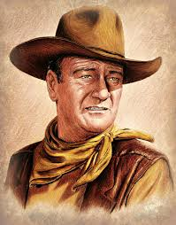 John Wayne Colour Version Art Print By Andrew Read