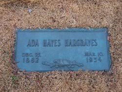 Ada Hayes Hargraves (1882-1954) - Find A Grave Memorial