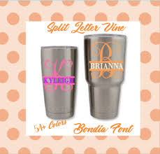 Monogram Vinyl Decal Sticker For Tumblers Cups Cellphones 3 For Sale Online