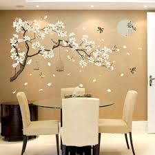 Blooming Flowers And Full Moon Wall Stickers Home Decor Living Room Bedroom Wall For Sale Online