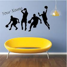 Basketball Sports Play Basketball Wall Decal Personalized Kids Boys Room Vinyl Sticker Custom Name Basketball Star Decor Wall Stickers For Home Decoration Wall Stickers For Kids From Onlinegame 12 87 Dhgate Com
