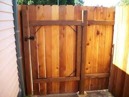 dog ear fence gate google search