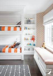 orange and gray bunk bed bedding