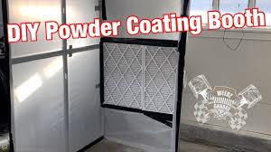 build a diy powder coating booth