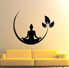 Meditating Buddha Floral Wall Sticker Decal For Living And Kids Room Decor At Rs 90 Piece Akshayanagar Bengaluru Id 20615957062