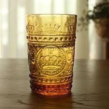best 14 oz crystal gold emboss vintage